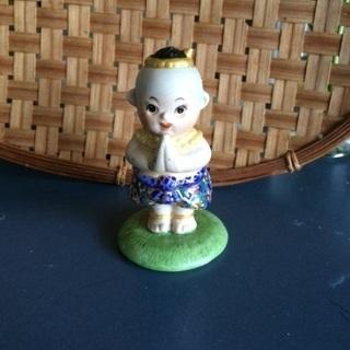 タイ 陶器の置物 オブジェ 人形