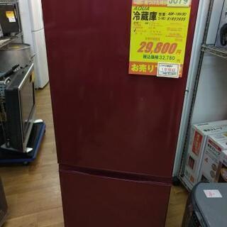 ⭐ジモティー限定特別価格⭐J079★1年保証★2ドア冷蔵庫★AQUA AQR-18H(R) 2019年製⭐動作確認済⭐クリーニング済         の画像