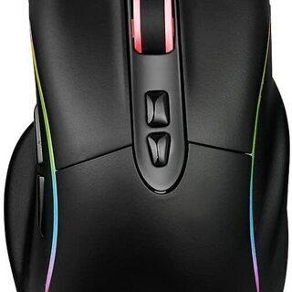 新品未使用 ゲーミングマウス 有線マウス ゲーム用 1680万色...