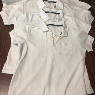 白ポロシャツ4枚