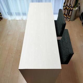 ホワイトカラーのカウンターテーブル[直接お引取頂ける方限定]