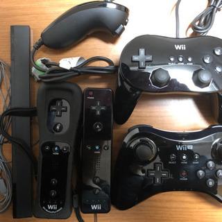 Wii、WiiU コントローラー、ヌンチャク、センサーバーセット