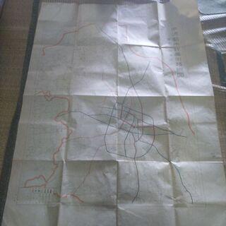 旧水沢町 都市計画図