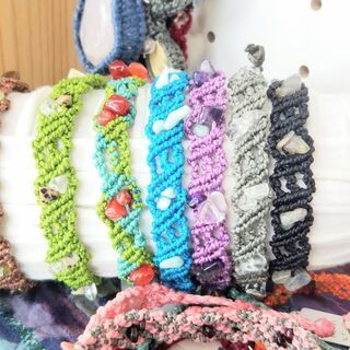 男性へのプレゼントにもおすすめです。Nagiさんのマクラメ編み×...