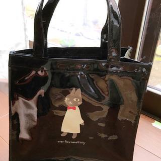 未使用 ネコのビニールトートバッグ