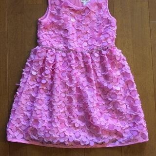スパンコール付き子供用ドレス(ピンク)