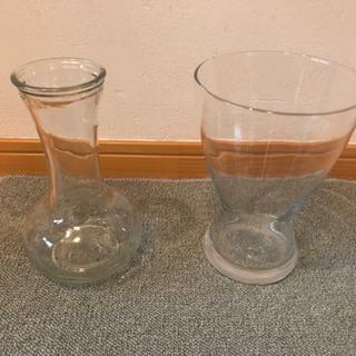 ガラスの花瓶 2個セット