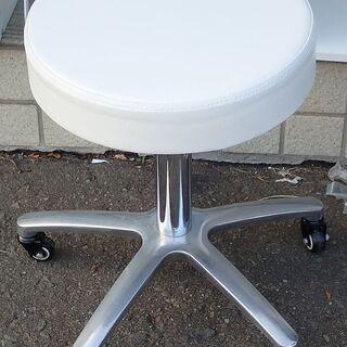 札幌 スツール イス 丸椅子 高さ調整可能 キャスター付き 中古