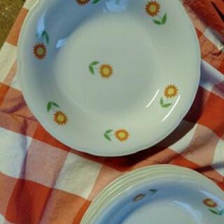 昭和 花柄 皿 5枚