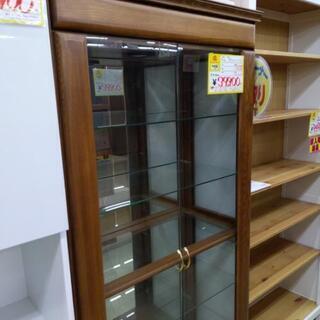 【値下げ】ガラスショーケース 80×81×181cm 福岡糸島唐津 0924-01の画像