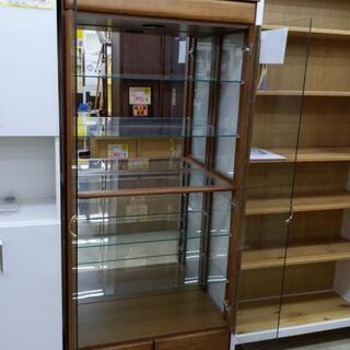 【値下げ】ガラスショーケース 80×81×181cm 福岡糸島唐津 0924-01 - 家具