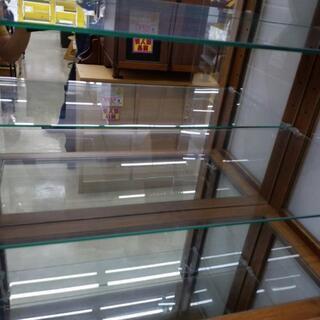 【値下げ】ガラスショーケース 80×81×181cm 福岡糸島唐津 0924-01 − 福岡県