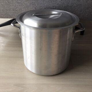 【美品】アルミ 製 寸胴鍋 ( ずんどう なべ ) 27cm フタ有