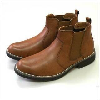 メンズ紳士靴サイドゴアカジュアルブーツ/ブラウン/25.0cm