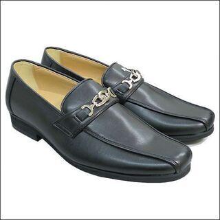新品/送料無料/メンズ紳士靴ビットレザーシューズ/ブラック/25...