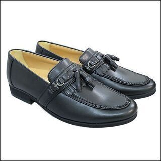 新品/送料無料/メンズ紳士靴タッセルレザーシューズ/ブラック/2...