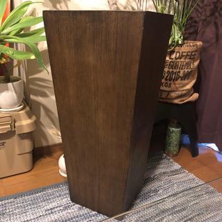 大型 木目調 プランターカバー 鉢カバー