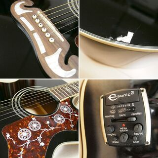 【美品訳あり】 Epiphone アコースティックギター EJ200CE - 楽器