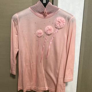 新品未使用⭐️ハーディエイミス  薄ピンク 長袖 お花 トップス