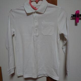 子供用白のポロシャツ