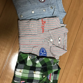 長袖シャツ3枚セット100〜110