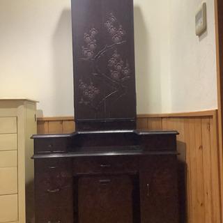 鎌倉彫り三面鏡