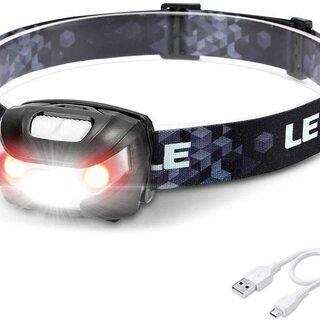 【新品】LED ヘッドライト 充電式 高輝度 ヘッドランプ US...