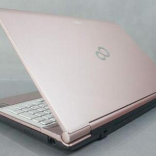 【ネット決済・配送可】【高速SSD搭載!綺麗なピンクの富士通 L...