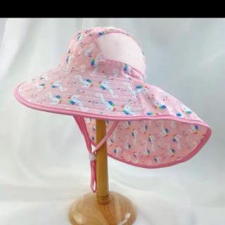 新品子供uvカット帽子