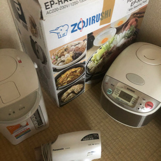 oversea 200voltage homr appliance set ! all 5 for 10000yen!! 海外使用200ボルト家電5点セットで10000円 - 神戸市