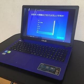 【ネット決済・配送可】【綺麗なブルーのASUS X550C】返品...