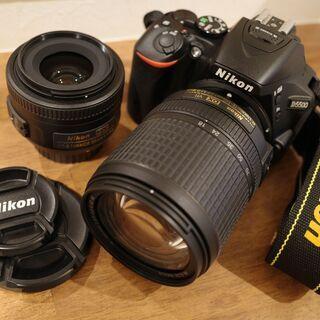 ニコン D5500 35mmF1.8レンズ+18mm-140mmレンズ