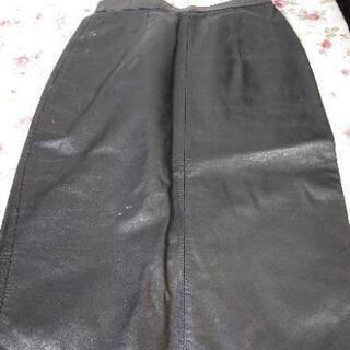 本革レザースカート 黒