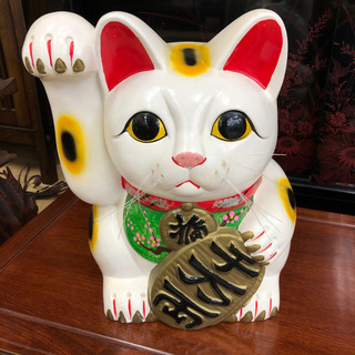 招き猫貯金箱☆身長33㎝☆コインバンク☆昔ながらの貯金箱で…