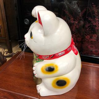 招き猫貯金箱☆身長33㎝☆コインバンク☆昔ながらの貯金箱です。 - 鳥取市