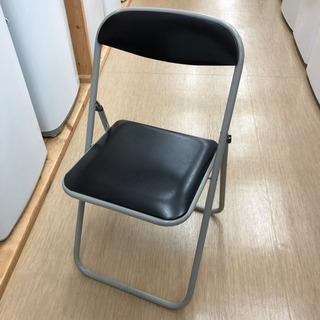 中古品☆LION☆パイプ椅子☆グレー×黒☆簡単折りたたみ椅子☆222P