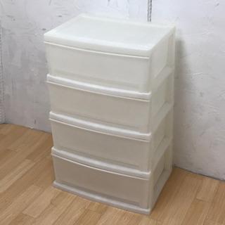 プラスチック4段衣装ケース ホワイト③