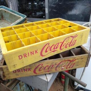 【取引調整中】コカ・コーラケース 木箱、プラスチック