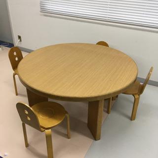 ❣️円卓と椅子4脚セット❣️