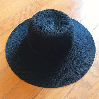 黒い麦わら帽子