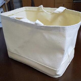 無印良品  持ち手付帆布長方形バスケット大 2個