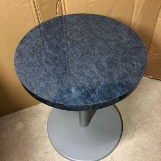 【中古】大阪引取歓迎 石模様丸テーブル 直径40×高さ55cm ...