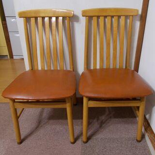 テーブルセットの椅子 2脚
