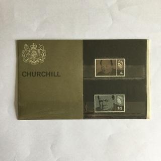 英国 ウィンストン・チャーチル、エリザベス女王 切手 2枚…