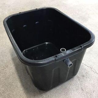めだか飼育用 黒角桶【60リットル】キングタライ・ブラック
