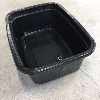 めだか飼育 黒角桶【110リットル】キングタライ・ブラック