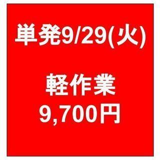 【急募】 09月29日/単発/日払い/川崎区:物流センター内で倉...