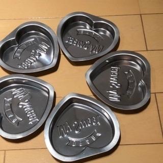 ハート♡の焼き型③(5個セット)
