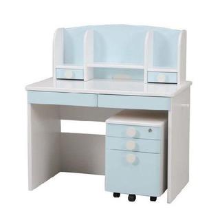 水色🐬 学習机 勉強机 デスク ライト・椅子付き