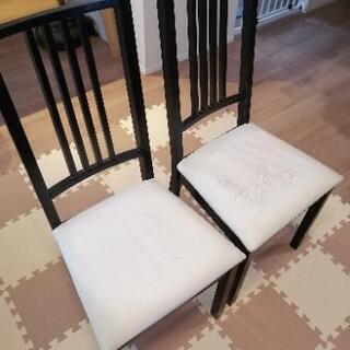 IKEA 椅子 ダイニングチェア BORJE ブラウンブラック
